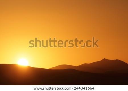 desert erg chebbi morocco - stock photo