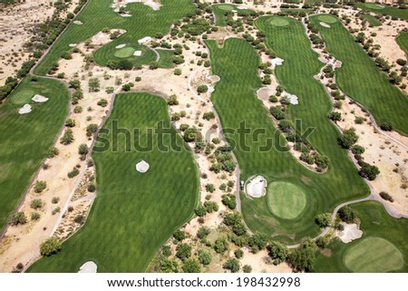 Desert Golf Course near Scottsdale, Arizona - stock photo