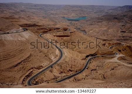 Desert in Jordan - stock photo
