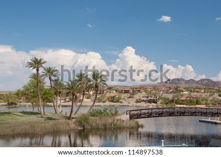 Desert island - stock photo
