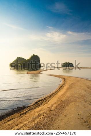 Desert Island Marine Fantasy  - stock photo