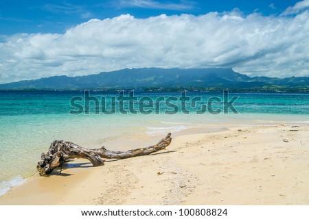 Desert Island off Lautoka, in west of the island of Viti Levu, Fiji - stock photo