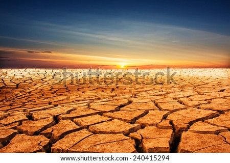 Desert landscape background - stock photo
