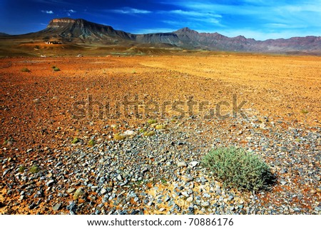 Desert landscape, Middle Atlas Mountains, Morocco - stock photo