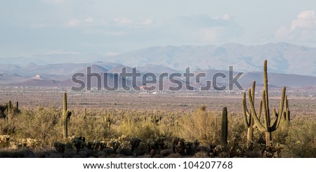 Desert Landscapes of Arizona, near Phoenix - stock photo