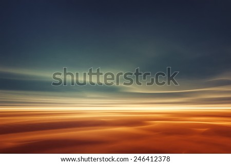 Desert like fantasy landscape - stock photo