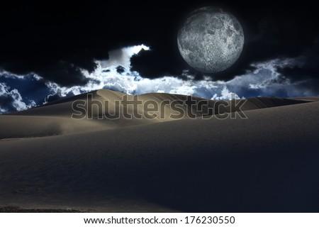 Desert Moon - stock photo