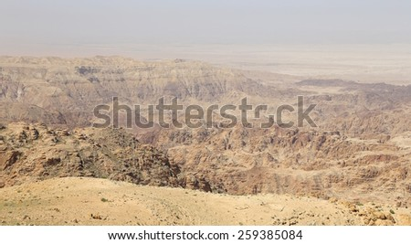 desert mountain landscape, Jordan, Middle East  - stock photo