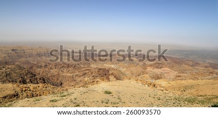 desert mountain landscape, Jordan, Middle East  - stock photo