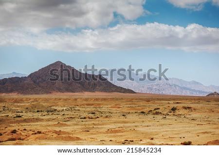 Desert mountains of Sinai Peninsula. - stock photo