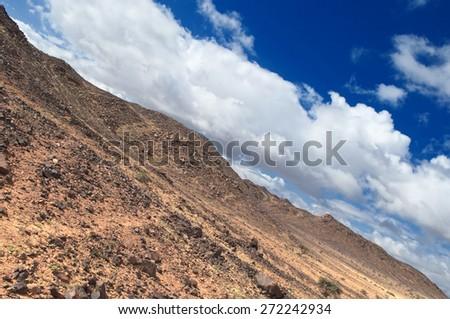 desert of western sahra , zamur region - stock photo