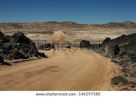 desert road - stock photo