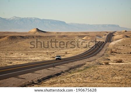 Desert Road - Colorado, USA - stock photo
