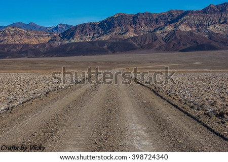 Desert road/Desert road/Desert road - stock photo