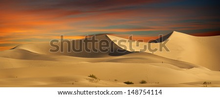 Desert Sand Dunes - stock photo