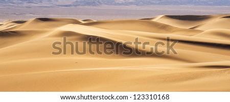 Desert Sand Dunes Panorama view - stock photo
