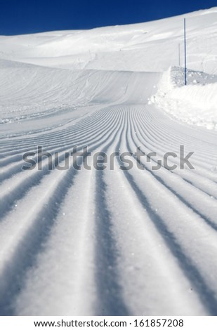 Desert ski slope in winter time - stock photo
