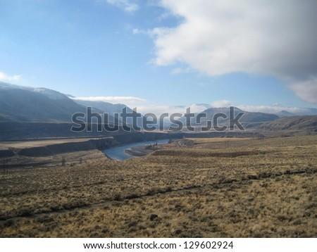 Desert terrain - stock photo