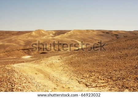 desert trail - stock photo
