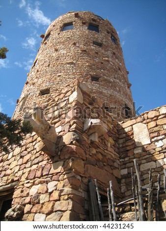 Desert View Watchtower at Grand Canyon - stock photo