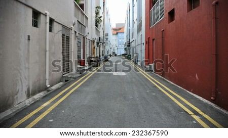 Deserted Alleyway Background - stock photo