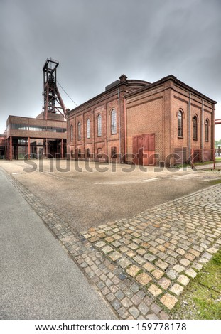 Deserted and derelict industrial heritage in the Ruhr region of Germany - stock photo