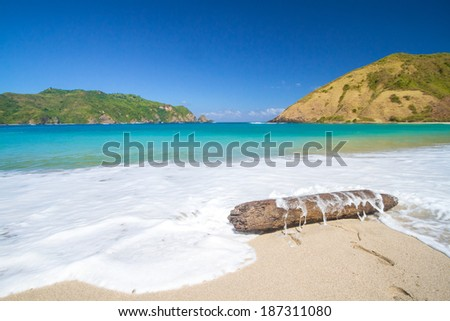 deserted beach at Lombok island.Indonesia. - stock photo