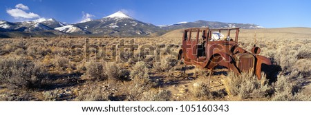 Deserted Car with Cow Skeleton, Great Basin, Nevada
