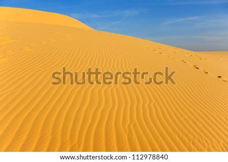Deserts and Sand Dunes Landscape  - stock photo
