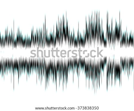 Design abstract digital sound wave on a white background. - stock photo