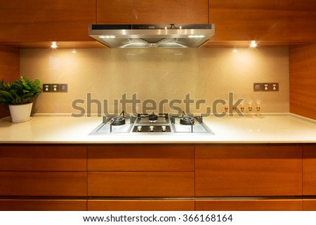 design and appliance in luxury kitchen
