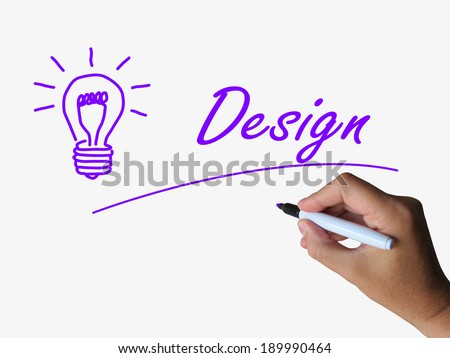 Design and Lightbulb Meaning Creative Concept and Designing