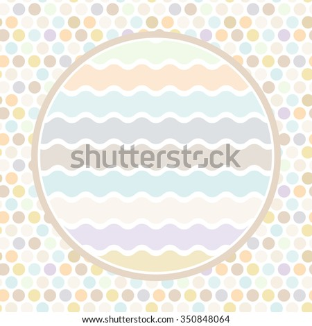 Design cards circle for your text Polkadot background, pattern. Pastel color dot on white background.