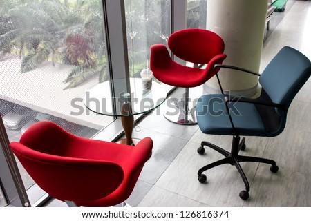design Chair modern Building Glass - stock photo