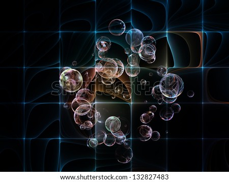 Design composed of fractal circles pattern as a metaphor on the subject of science, education and technology