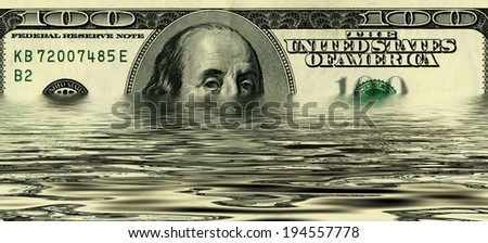 design 100 dollar United States treasury note - stock photo