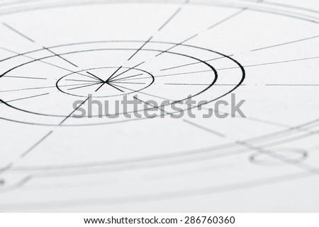Design drawing - stock photo
