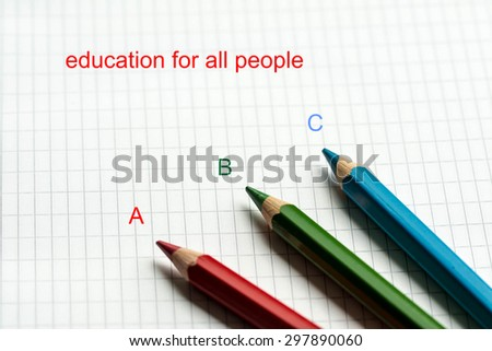 Design- education for all people - stock photo