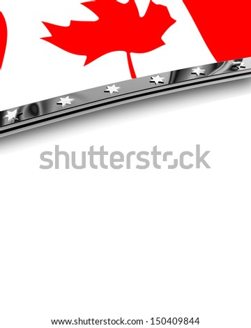 Design Element Flag of Canada - stock photo
