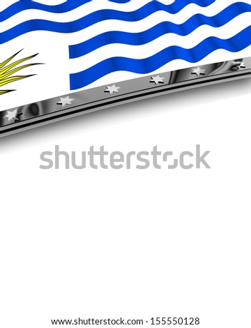 Design Element Flag of Uruguay - stock photo