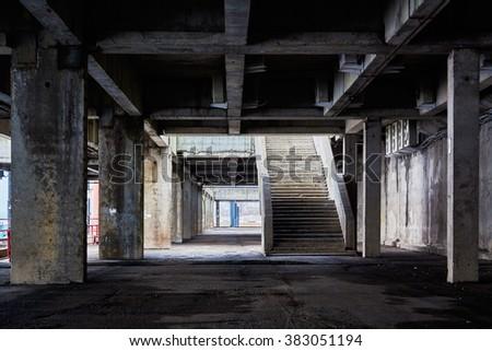 design element. industrial interior image - stock photo