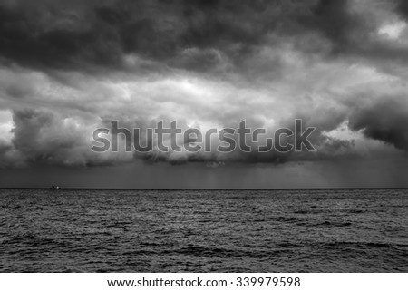 design element.seascape black and white image