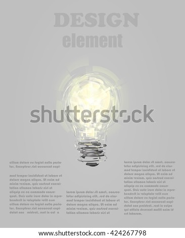 Design element with light bulb