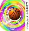 design elements basketball. Raster version - stock photo