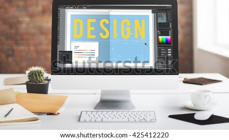 Design Floor Plan Software Concept - stock photo