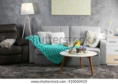 Design interior of living room - stock photo
