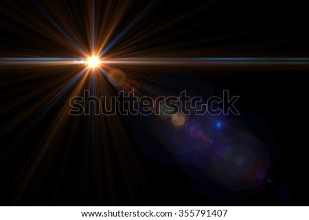 Design natural lens flare. Rays background