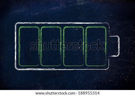 design of a full (or charging) green battery level