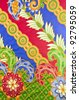 Design of batik in traditional concept. - stock photo