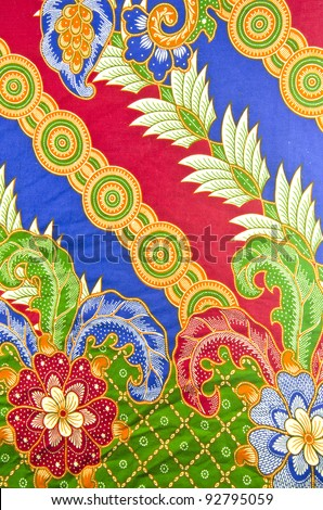 Design of batik in traditional concept. - stock photo